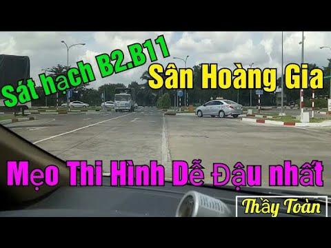 Thi B2.B11Bên sân HOÀNG GIA. điểm canh,kỹ thuật chạy sa hình dễ đậu bên sát hạch lái xe HOÀNG GIA